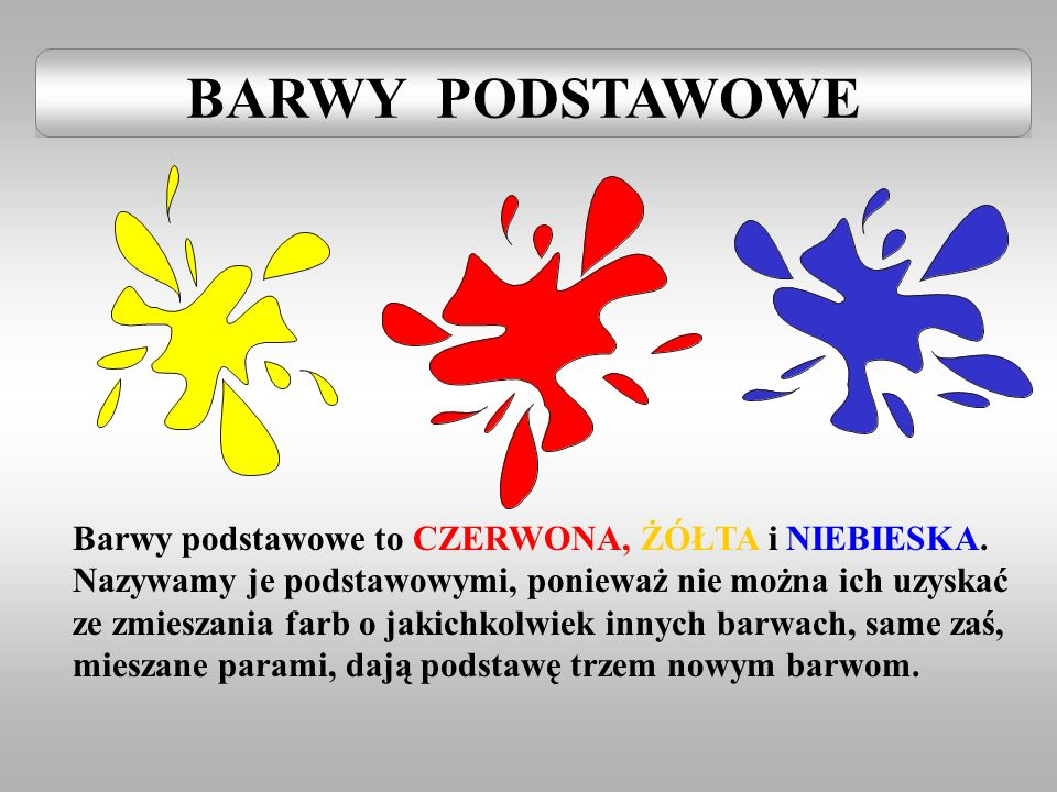 BARWY PODSTAWOWE