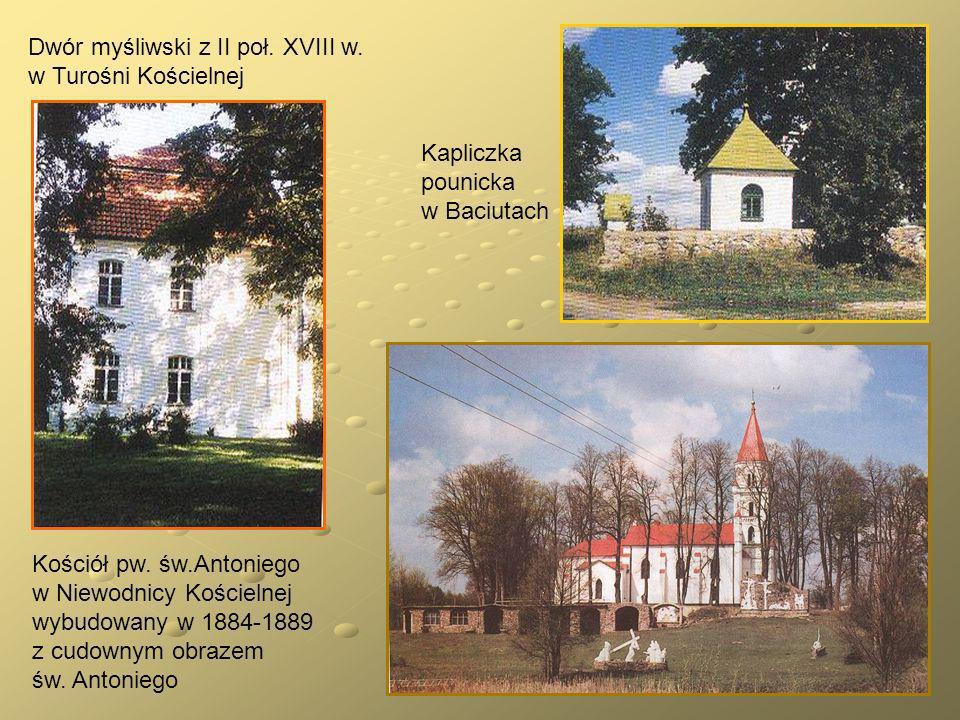 Dwór myśliwski z II poł. XVIII w. w Turośni Kościelnej
