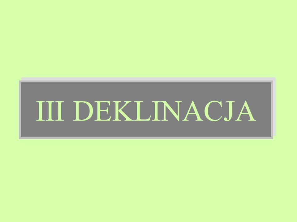 III DEKLINACJA 1