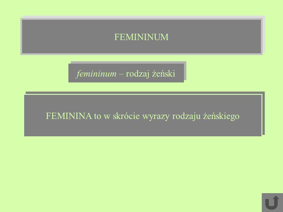 femininum – rodzaj żeński