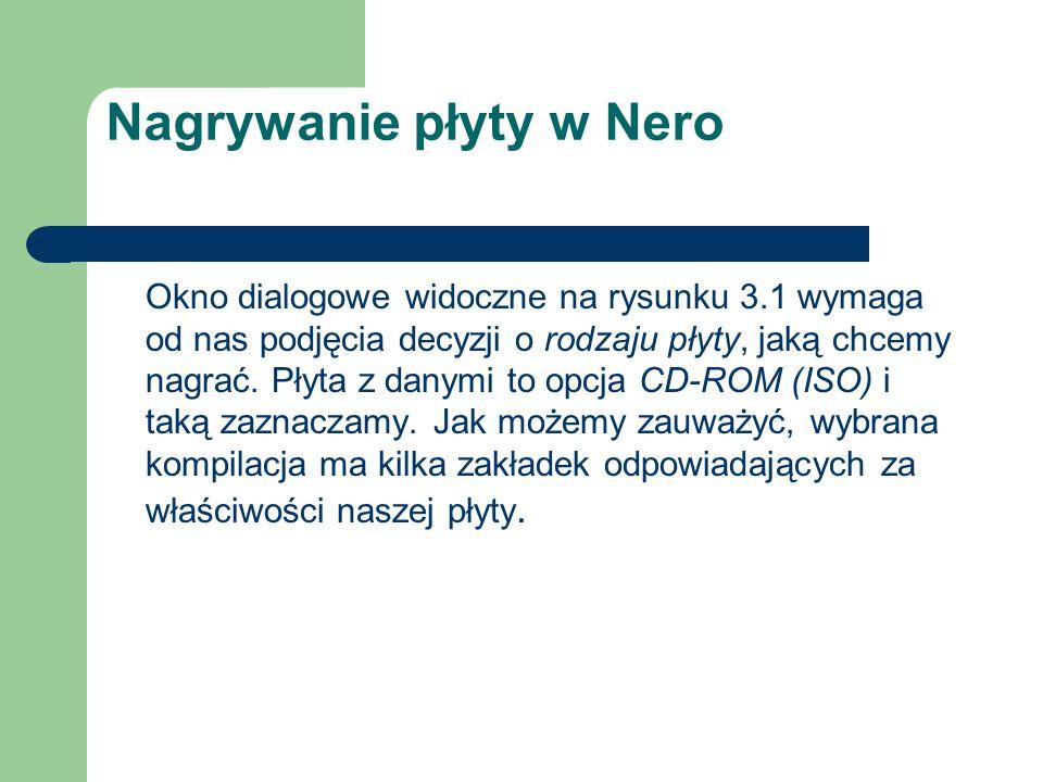 Nagrywanie płyty w Nero