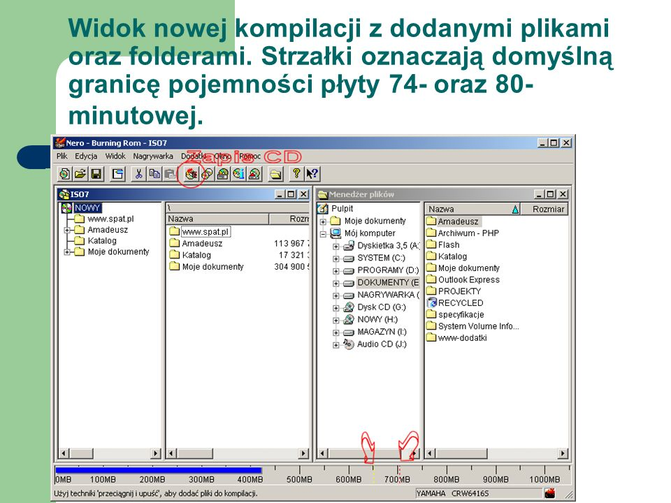 Widok nowej kompilacji z dodanymi plikami oraz folderami