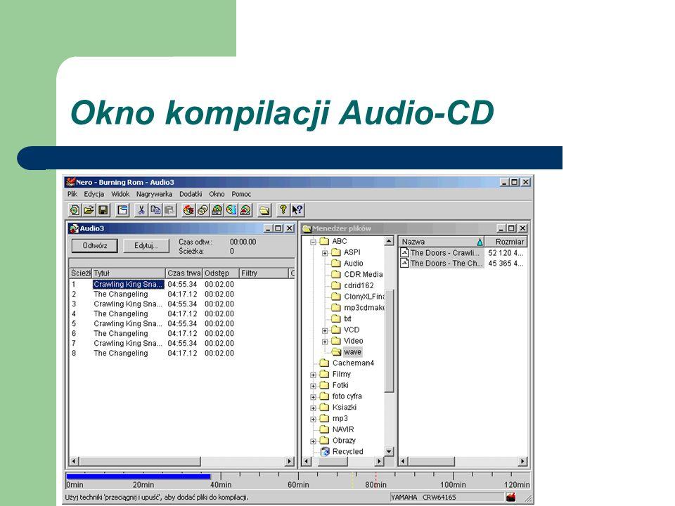 Okno kompilacji Audio-CD
