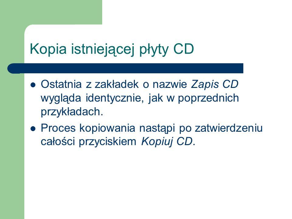 Kopia istniejącej płyty CD