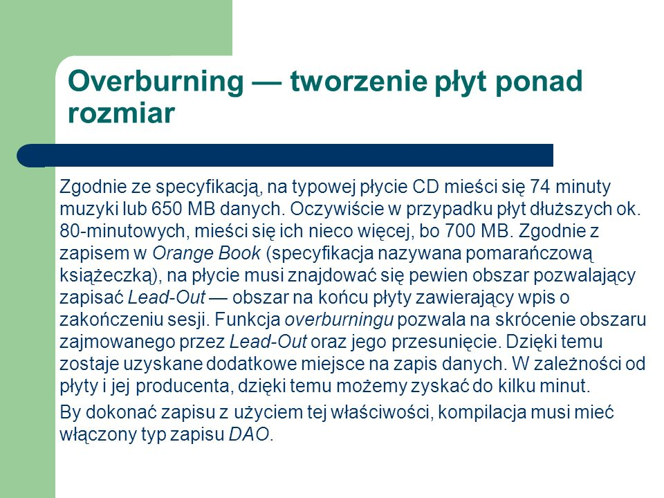 Overburning — tworzenie płyt ponad rozmiar