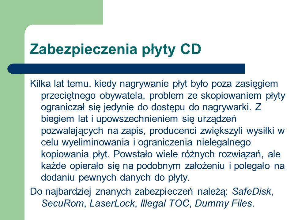 Zabezpieczenia płyty CD