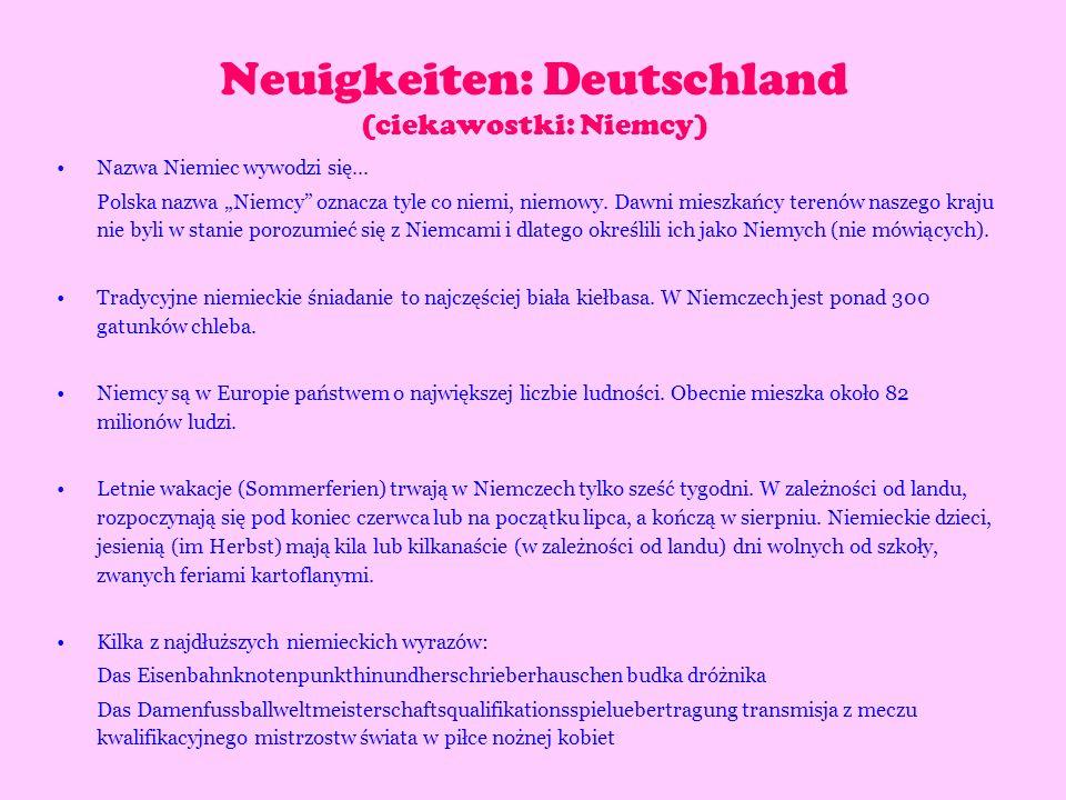 Neuigkeiten: Deutschland (ciekawostki: Niemcy)