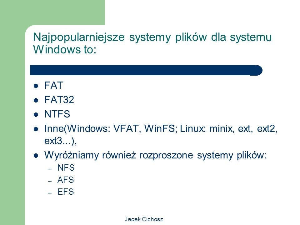 Najpopularniejsze systemy plików dla systemu Windows to: