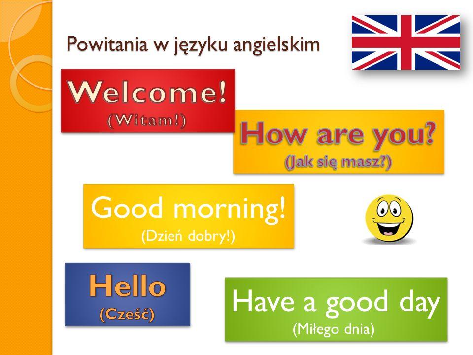 Powitania w języku angielskim
