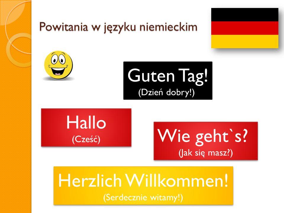 Powitania w języku niemieckim