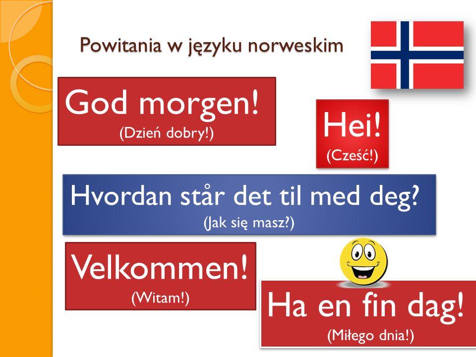 Powitania w języku norweskim