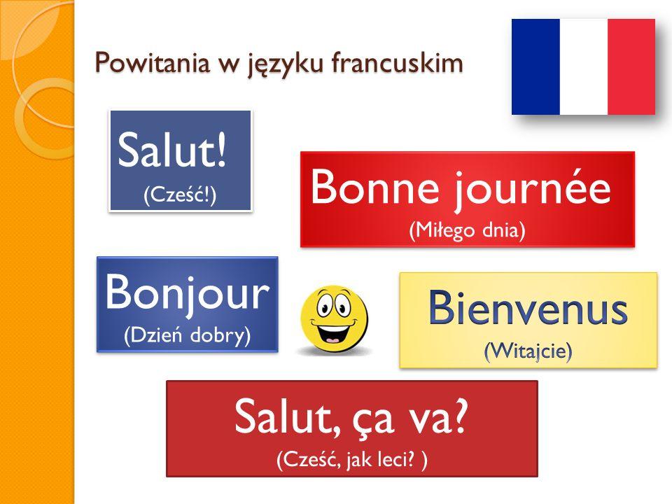 Powitania w języku francuskim