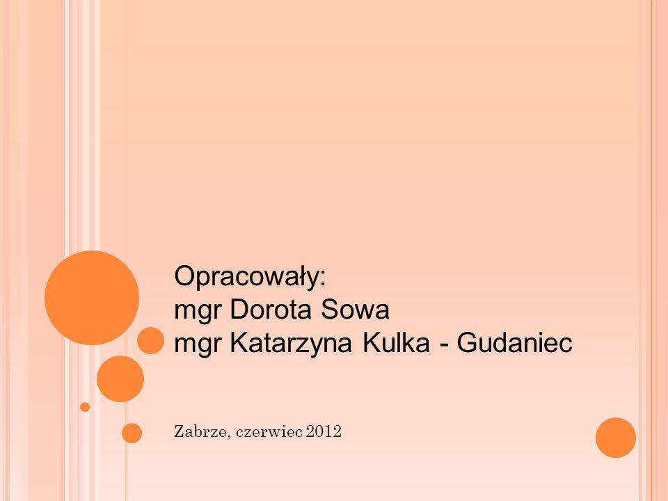 Opracowały: mgr Dorota Sowa mgr Katarzyna Kulka - Gudaniec