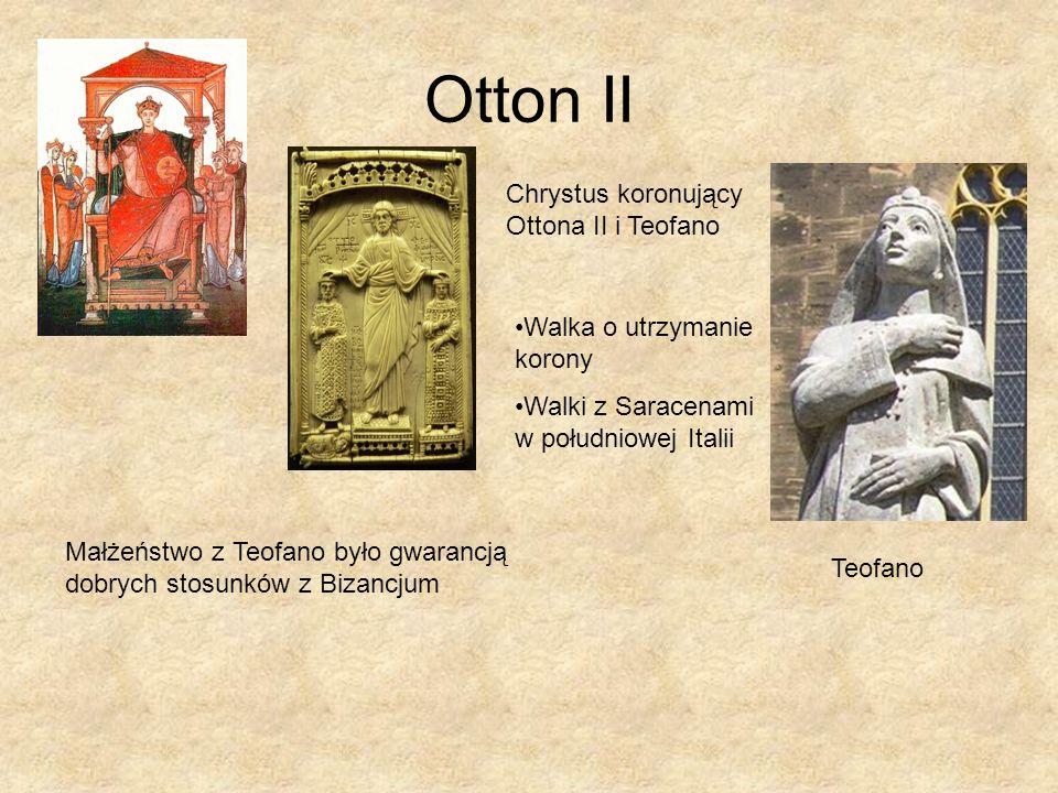 Otton II Chrystus koronujący Ottona II i Teofano