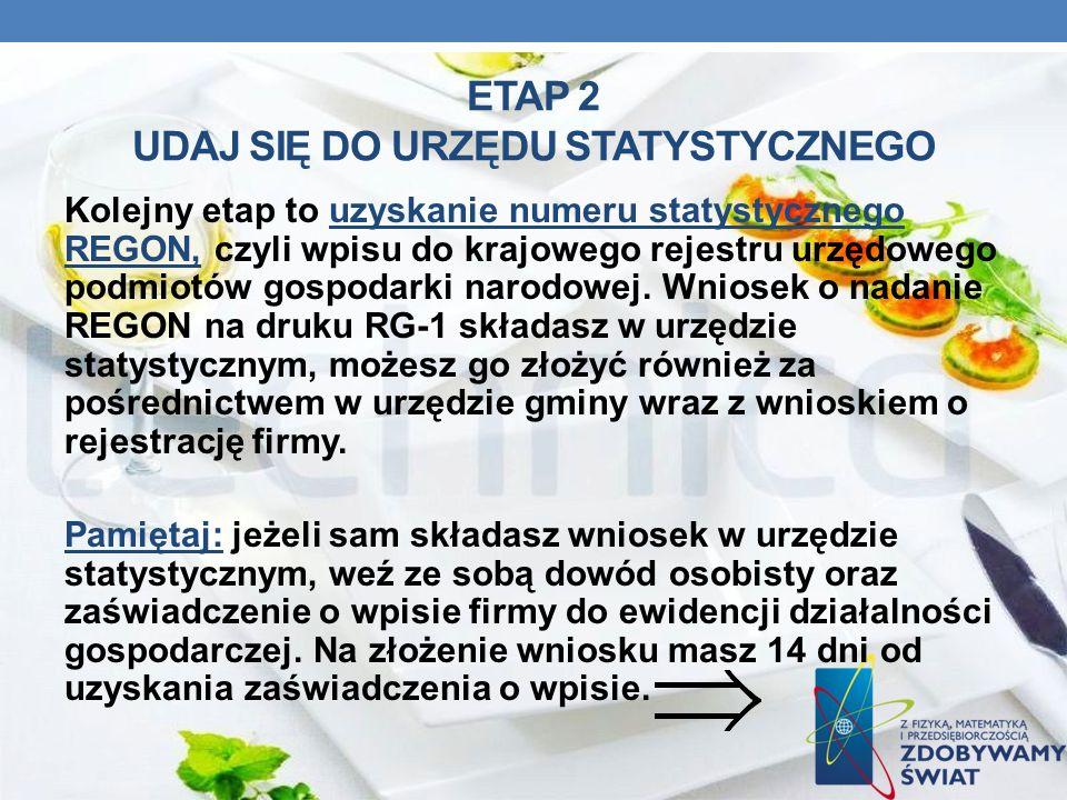 ETAP 2 UDAJ SIĘ DO URZĘDU STATYSTYCZNEGO