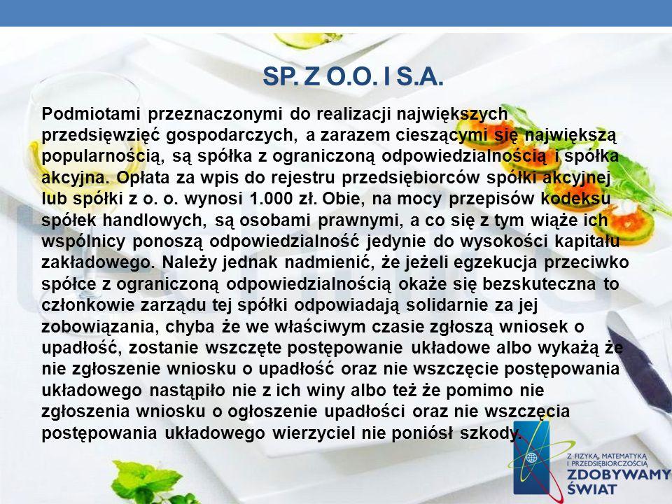 Sp. z o.o. i S.A.