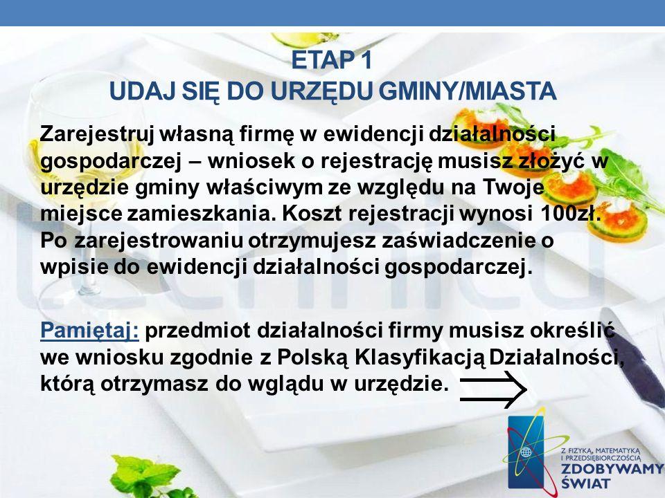 ETAP 1 UDAJ SIĘ DO URZĘDU GMINY/MIASTA