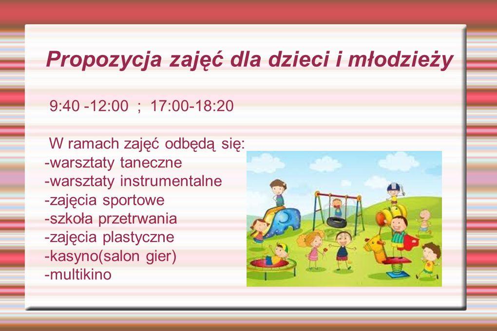 Propozycja zajęć dla dzieci i młodzieży