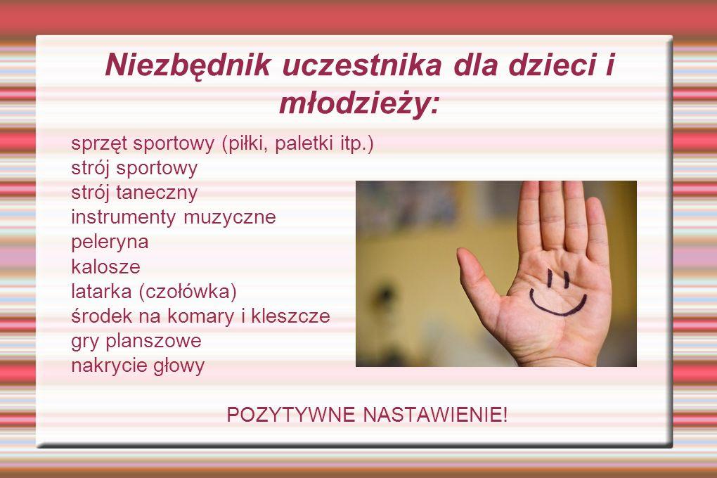Niezbędnik uczestnika dla dzieci i młodzieży: