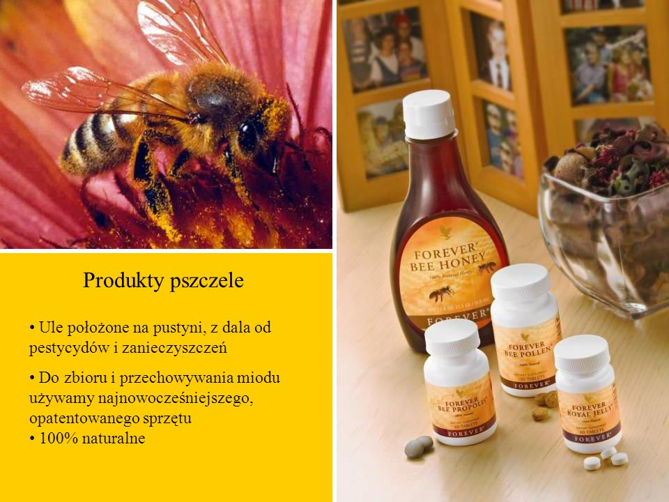 Produkty pszczele • Ule położone na pustyni, z dala od pestycydów i zanieczyszczeń.