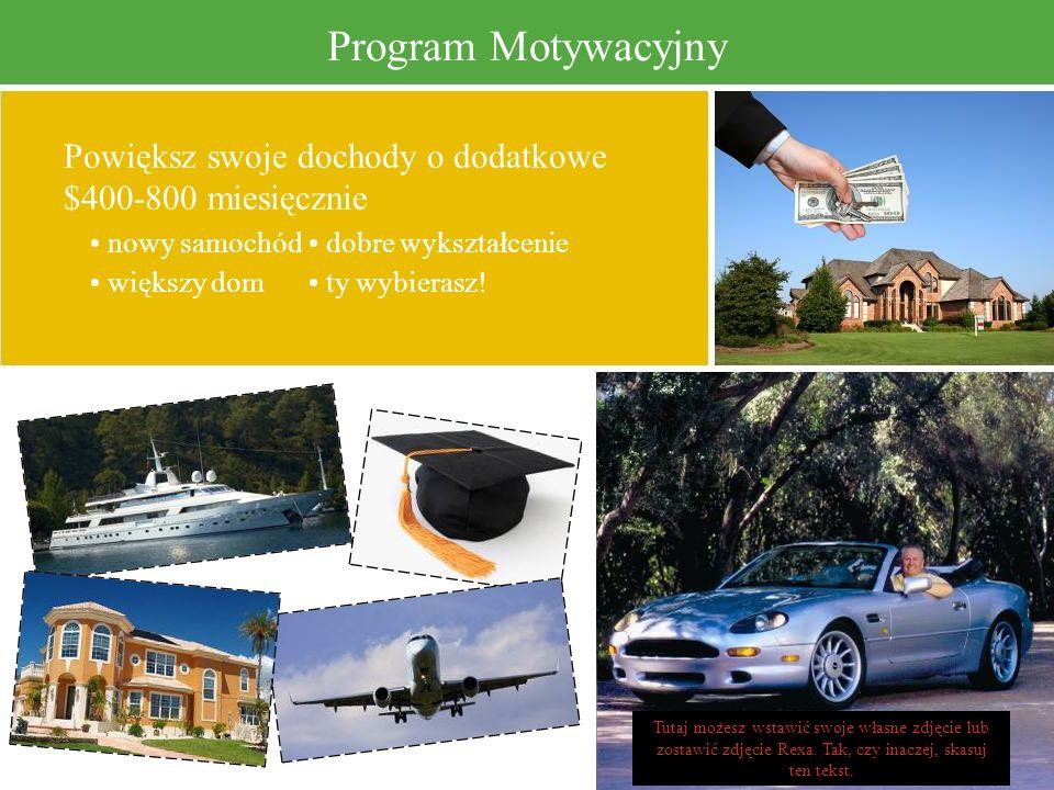 Program Motywacyjny Powiększ swoje dochody o dodatkowe $400-800 miesięcznie. • nowy samochód • dobre wykształcenie.