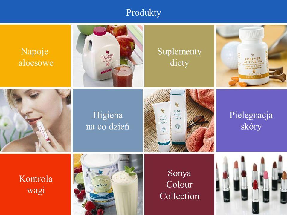 Produkty Napoje. aloesowe. Suplementy. diety. Higiena. na co dzień. Pielęgnacja. skóry. Kontrola.