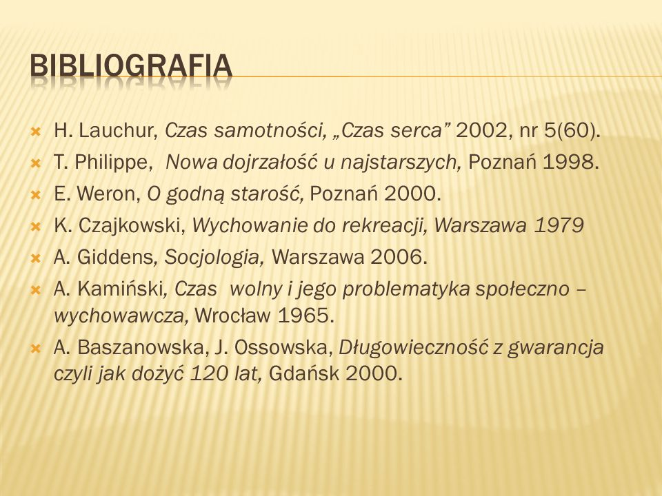 "Bibliografia H. Lauchur, Czas samotności, ""Czas serca 2002, nr 5(60)."