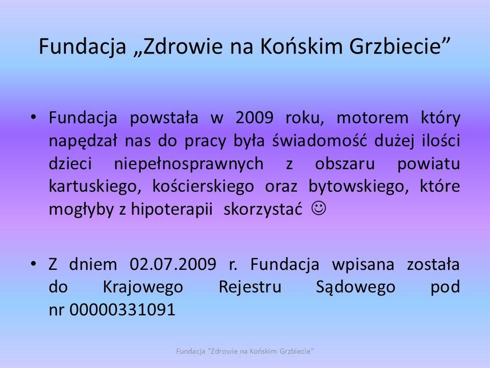 """Fundacja """"Zdrowie na Końskim Grzbiecie"""