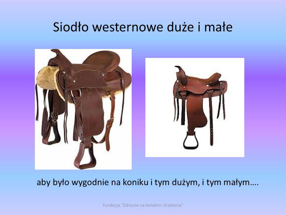 Siodło westernowe duże i małe