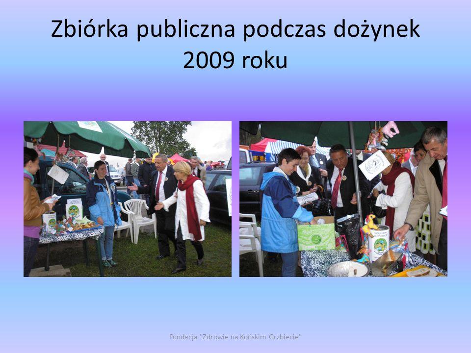 Zbiórka publiczna podczas dożynek 2009 roku