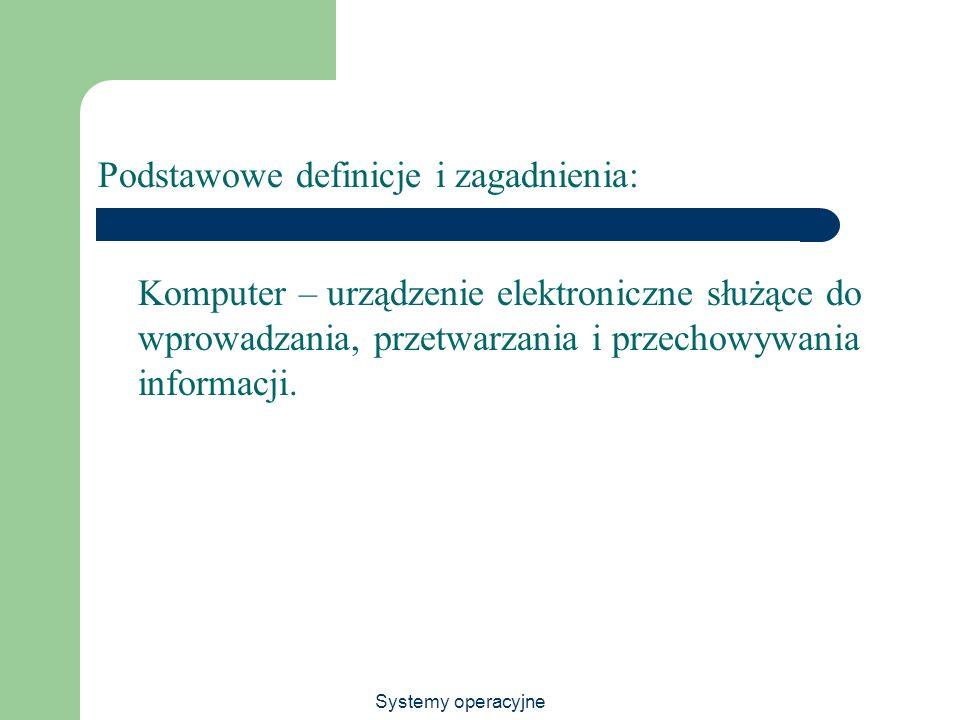 Podstawowe definicje i zagadnienia: