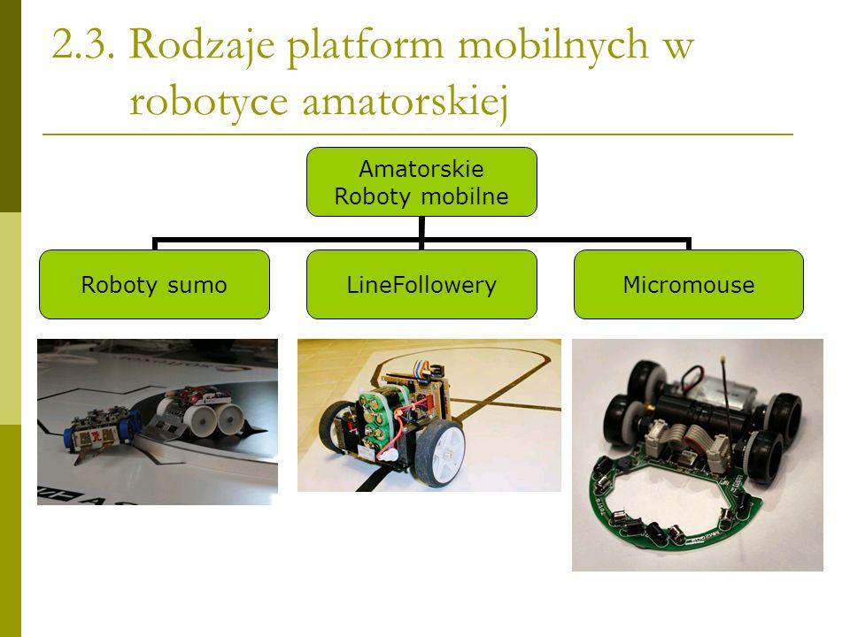 2.3. Rodzaje platform mobilnych w robotyce amatorskiej