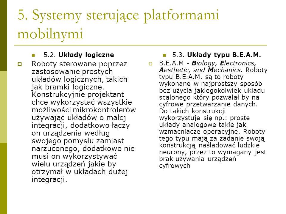 5. Systemy sterujące platformami mobilnymi