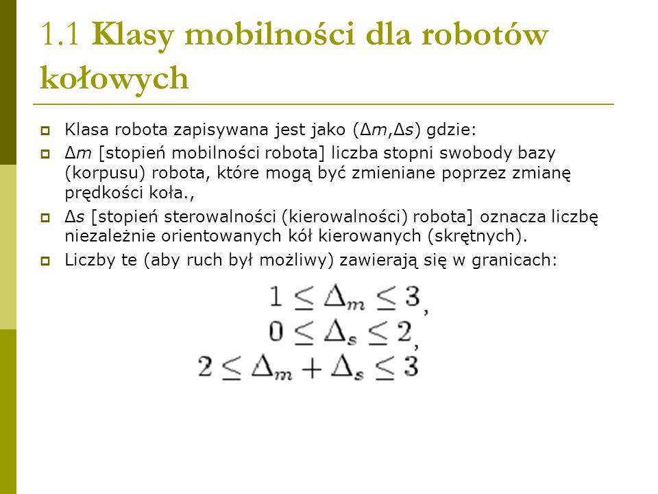 1.1 Klasy mobilności dla robotów kołowych