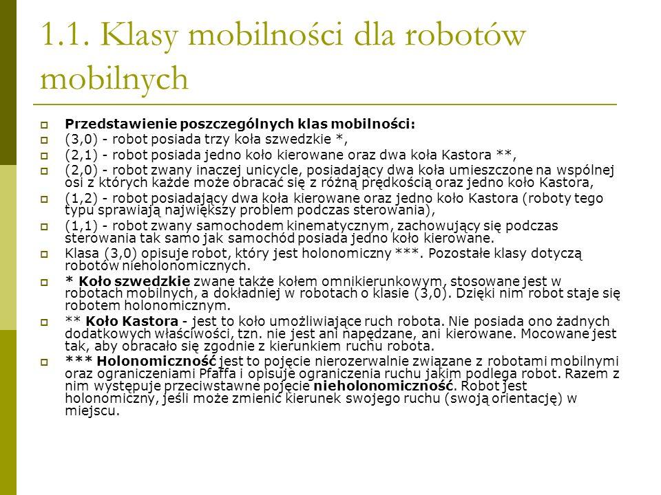 1.1. Klasy mobilności dla robotów mobilnych