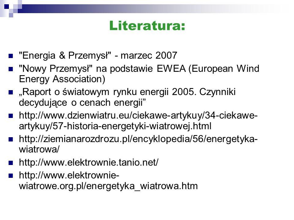 Literatura: Energia & Przemysł - marzec 2007