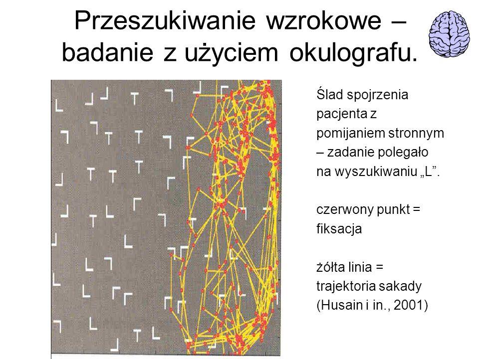 Przeszukiwanie wzrokowe – badanie z użyciem okulografu.