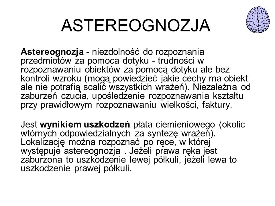 ASTEREOGNOZJA