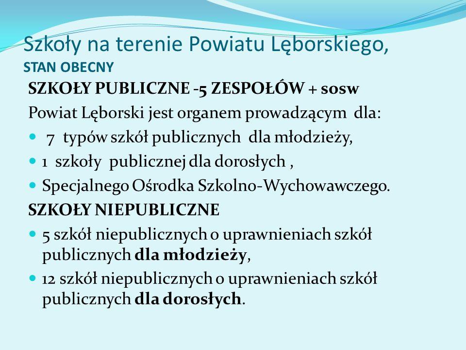 Szkoły na terenie Powiatu Lęborskiego, STAN OBECNY