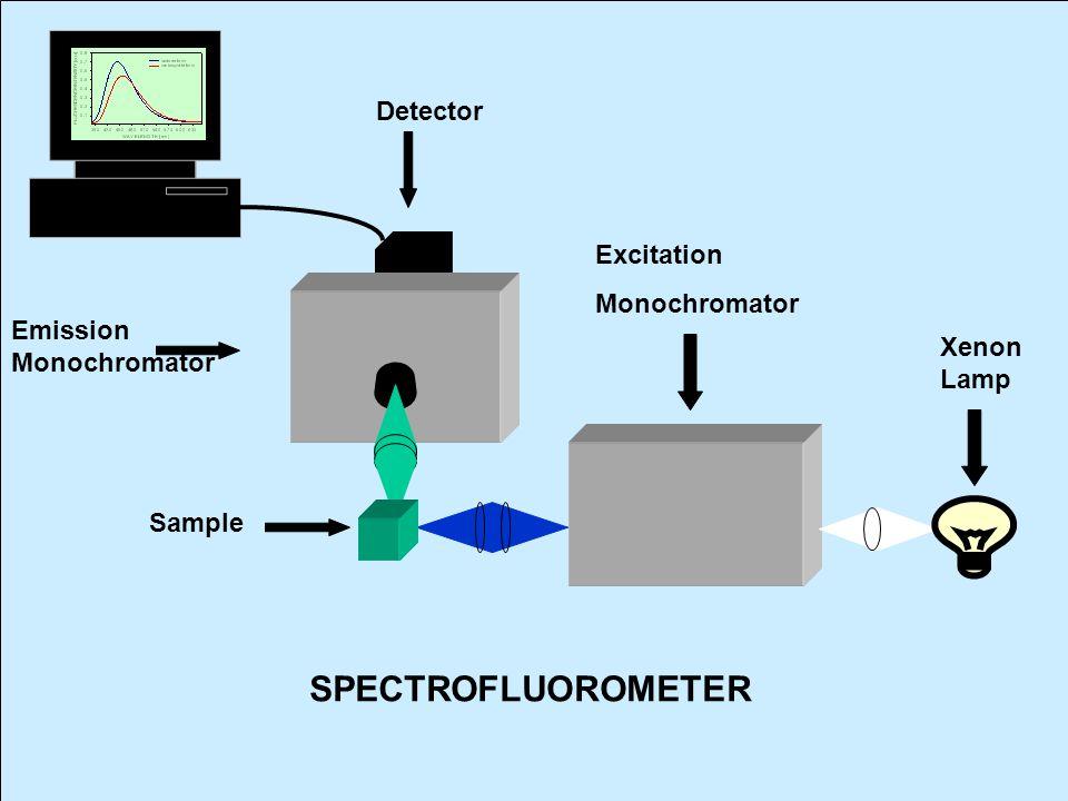 SPECTROFLUOROMETER Detector Excitation Monochromator