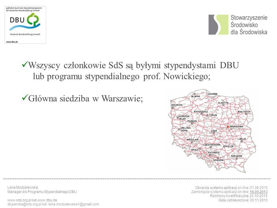Wszyscy członkowie SdS są byłymi stypendystami DBU