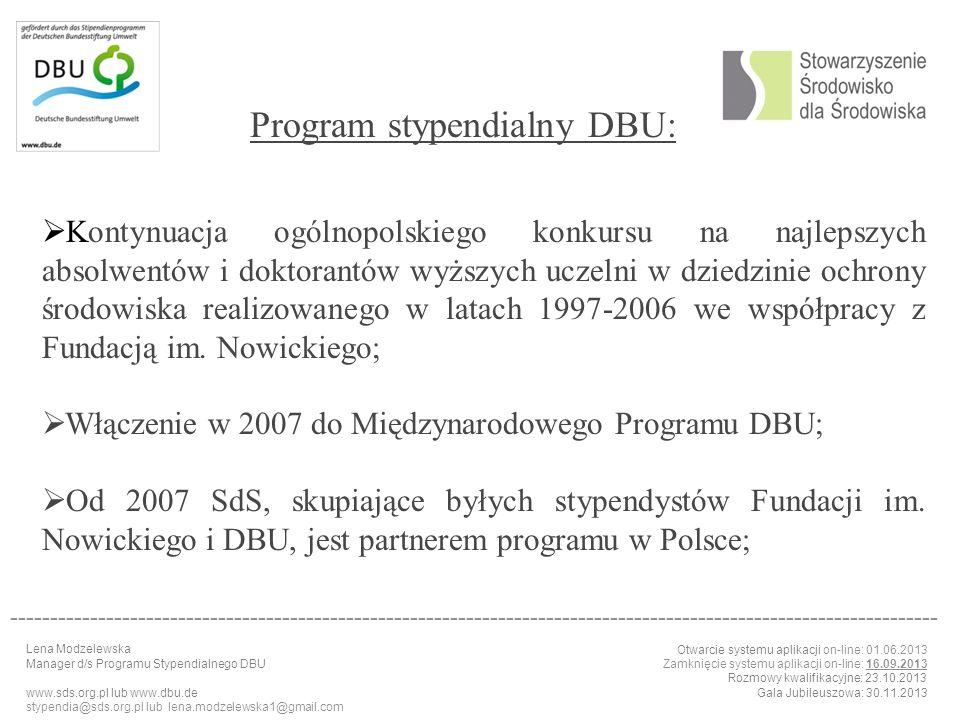 Program stypendialny DBU: