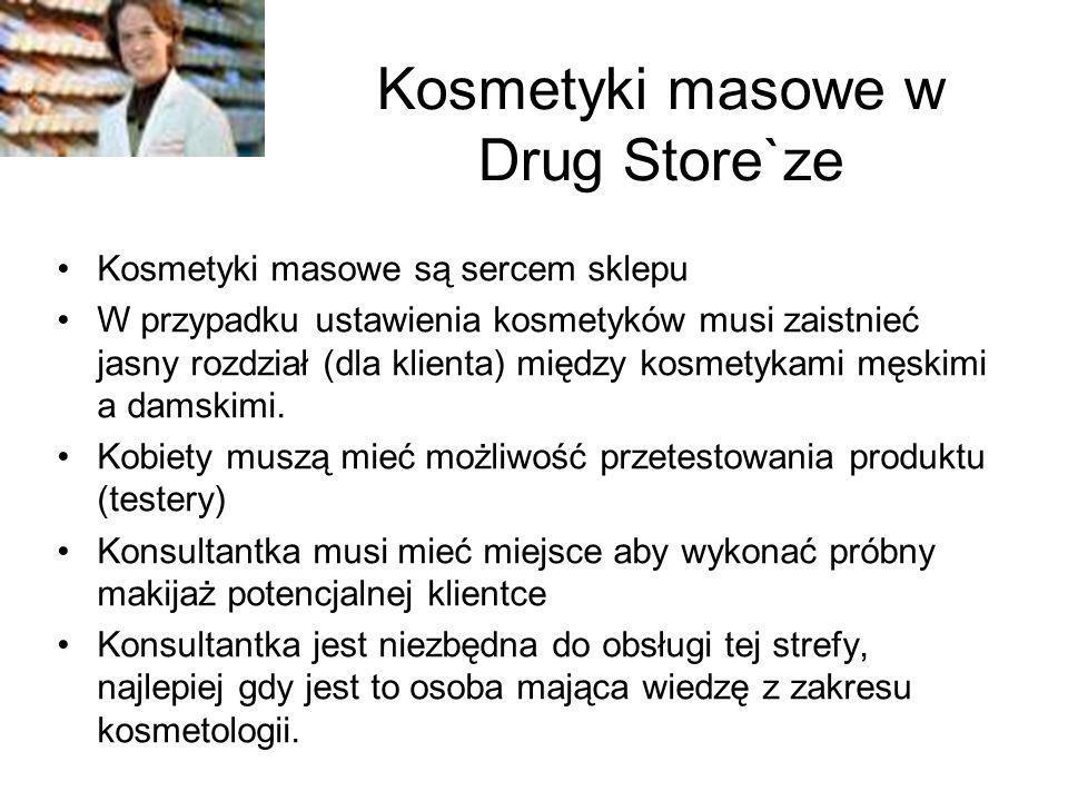 Kosmetyki masowe w Drug Store`ze