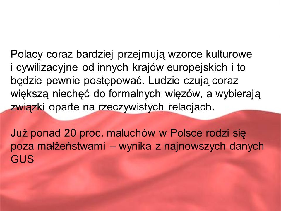 Polacy coraz bardziej przejmują wzorce kulturowe
