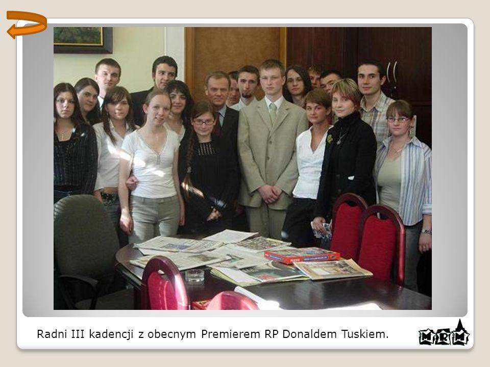 Radni III kadencji z obecnym Premierem RP Donaldem Tuskiem.