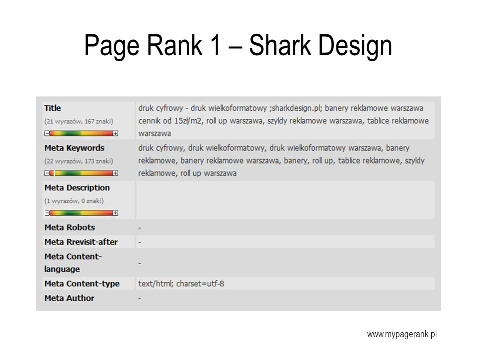 Page Rank 1 – Shark Design
