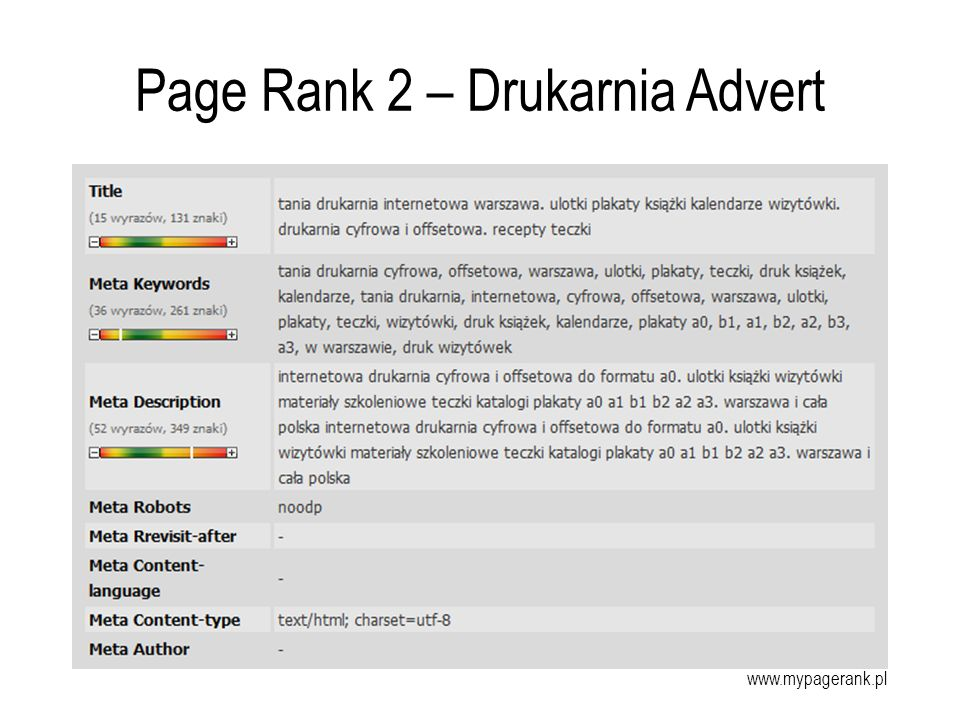 Page Rank 2 – Drukarnia Advert