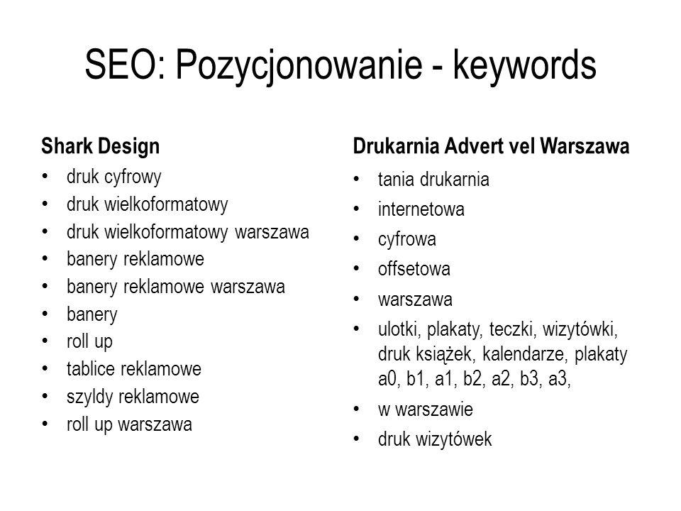 SEO: Pozycjonowanie - keywords