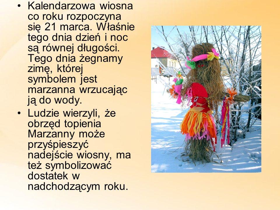 Kalendarzowa wiosna co roku rozpoczyna się 21 marca