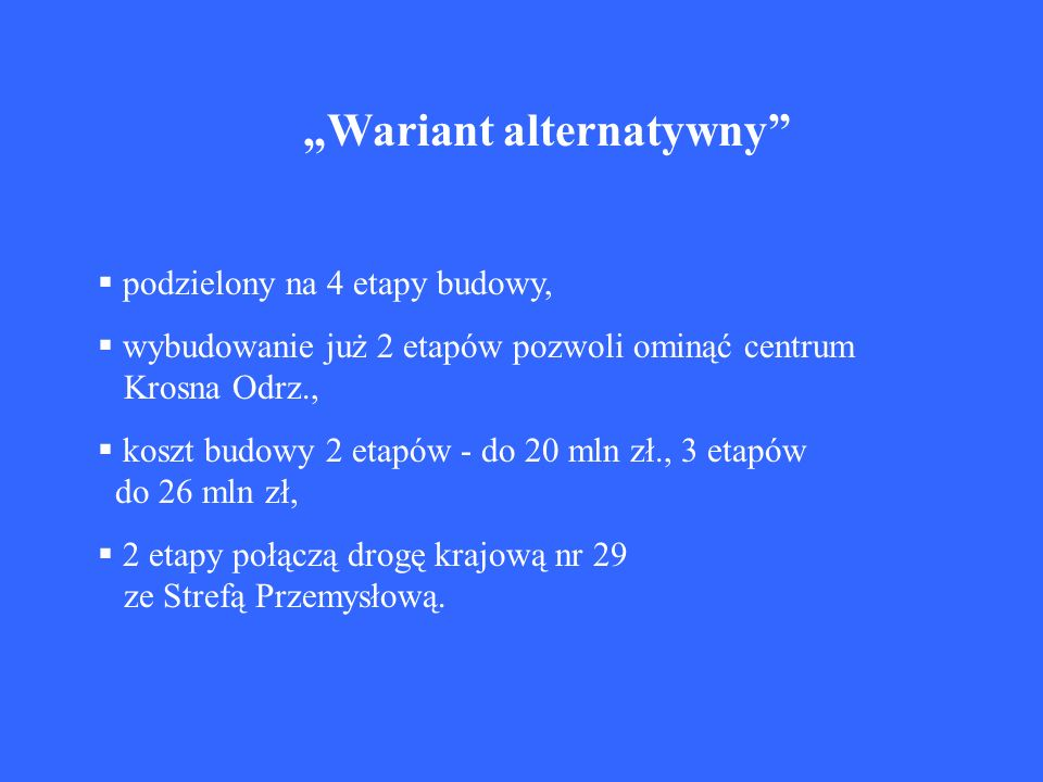 """""""Wariant alternatywny"""
